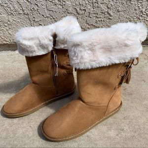 Faux Fur lined zip up boots